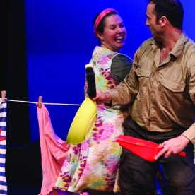 diary of a wombat jackie french book to stage adaptation monkey bar baa theatre company