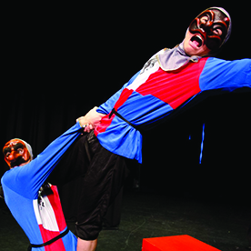 the arte of commedia comedia comeddia del arte monkey baa bar theatre company